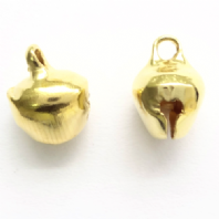100 Gold plated 8mm Jingle Bell Charms
